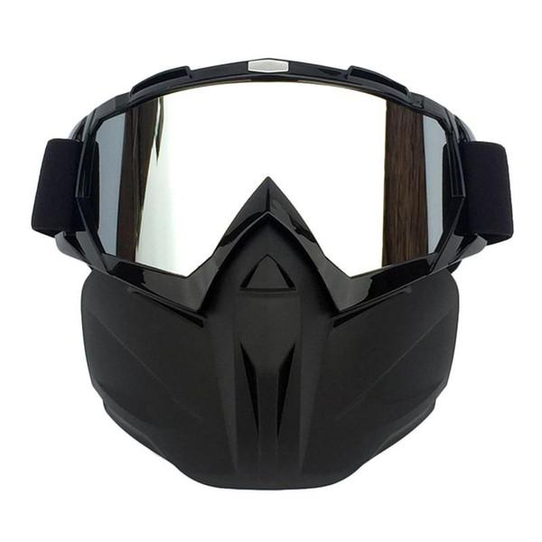 Hombres Mujeres Esquí Snowboard Snowmobile Gafas Nieve Invierno A prueba de viento Gafas de esquí Gafas de sol de Motocross con mascarilla