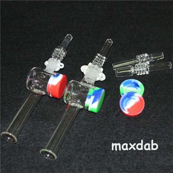Tubo de água de vidro Coletor de néctar Dicas com dicas de quartzo Dabber Prato atacado bongs de vidro puro 10 14mm conjunta