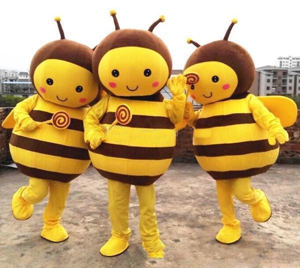 2018 высокое качество маленькая пчела подводный мир гиппокамп мультфильм куклы костюмы талисмана реквизит костюмы хэллоуин бесплатная доставка