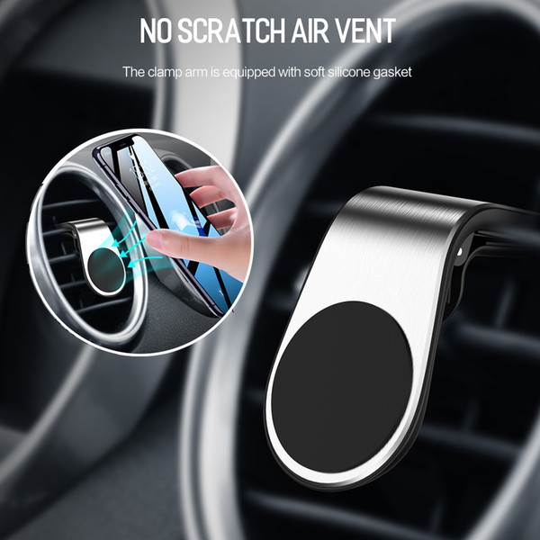 Magnetic L-type Air Vent In Car For Iphone Xr Xs X Samsung Xiaomi Mobile Phone Holder Stand Lowest pricelow price