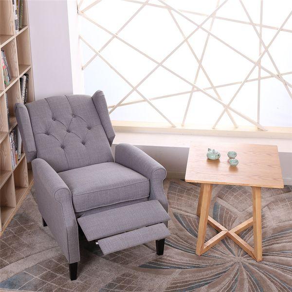 Marvelous 2019 77 84 104Cm Modern Fabric Recliner Sofa Single Recliner Sofa With Button Living Room Sofas Light Gray From Home1Garden 316 83 Dhgate Com Dailytribune Chair Design For Home Dailytribuneorg