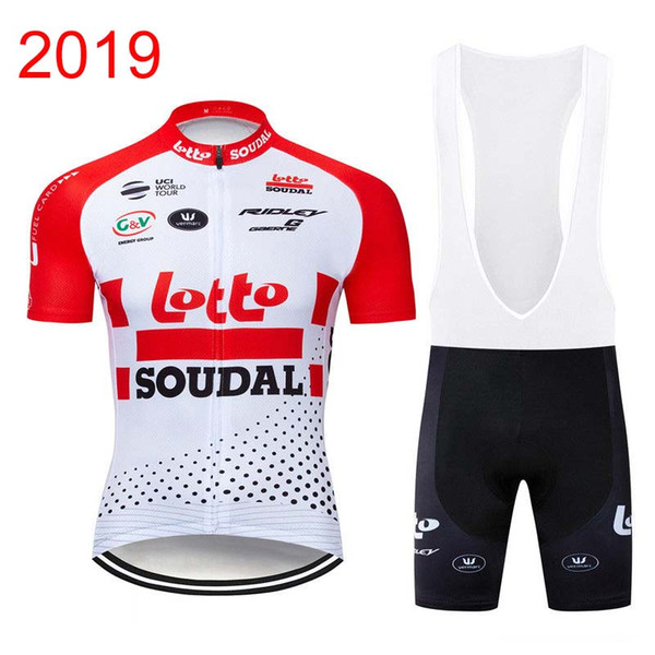 2019 LOTTO Men Cycling clothing Set racing bike Jersey bib shorts suit  breathable MTB bicycle shirt Summer Mtb Sportswear Y011604 70032d8e0