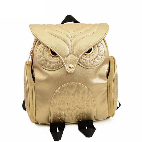 2019 Newest Stylish Cool Bag Pu Leather Owl Backpack Female Hot Sale Women Shoulder Bag School Rucksack Fashion Women Knapsack
