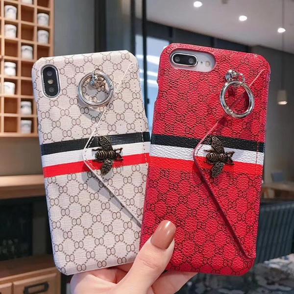 Toptan Telefon Kılıfı için iphone XS MAX X 6 s 6 artı 7 8 artı moda cüzdan Tasarımcı telefon kılıfı için arka kapak hediyeler