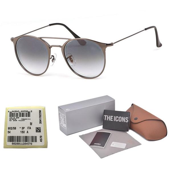 La mejor calidad Gafas de sol de diseñador de marca Para mujer Para mujer Aleación G15 gradiente (lentes de vidrio) gafas de sol Con caja y etiqueta de venta al por menor gratis