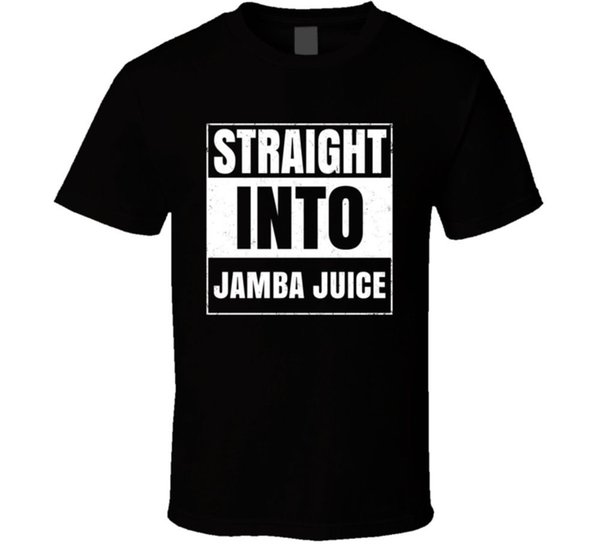 Straight Into Jamba Juice Fast Food Fan Distressed Style T ShirtFunny free shipping Unisex Casual Tshirt