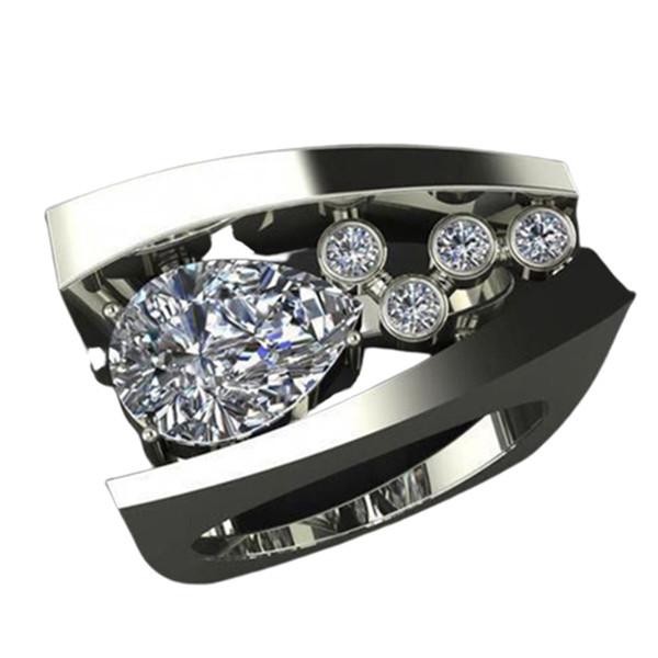 Neue Ankunft Edle Geometrische Stereo Kristall Ring Heißer Verkauf frauen Hochzeit Zirkon Schmuck Ring