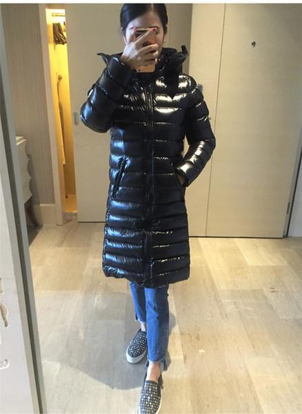 Nueva chaqueta larga de invierno 2019 de las mujeres moka Adelgaza gruesas abrigos gruesos abrigos Suyen Women Down Parkas