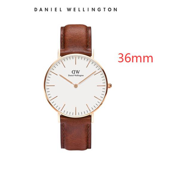 [With Box] Mens Daniel Wellington DW Luxury Watches 40MM New Arrival Quartz Watch Male Black Leather Sport Clock Men Orologio Montre