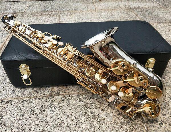 Новый ЮПИТЕР Саксофон альт Eb Tune никелированной E плоский Sax Alto JAS- 1100SG Музыкальные инструменты с футляром рупором Copy