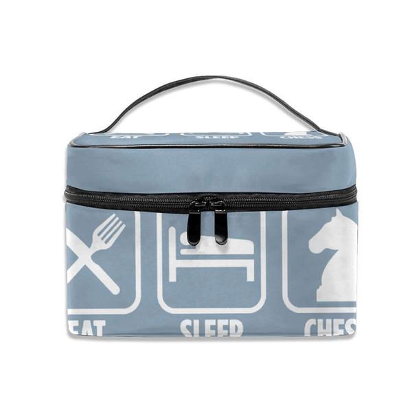 Kosmetiktasche Essen Sie Schlaf Schach Portable Travel Kit Organizer / Haushalt Storage Pack Makeup Organizer