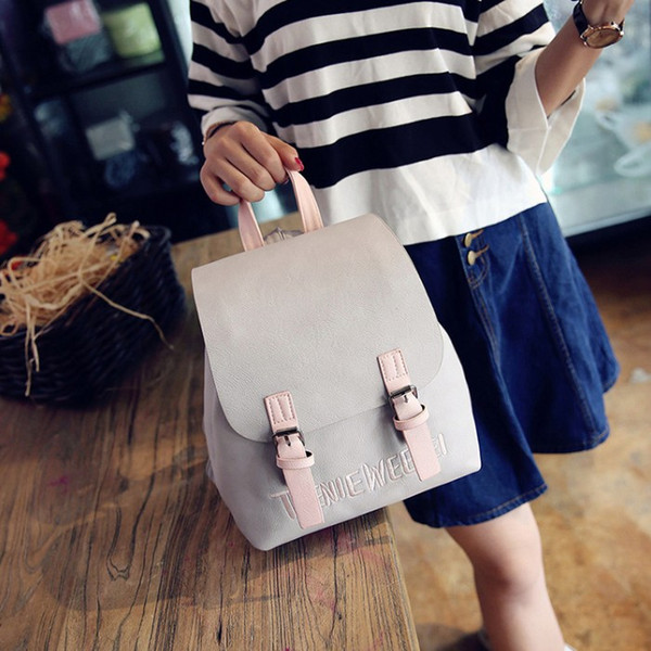 Fresh and lady Preppy style Fashion school traveling Bags Backpack high quality women bags with Letter free fast shipping