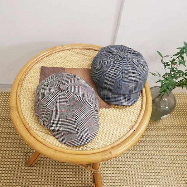 Cappello femminile primavera ed estate coreano netto rosso britannico moda britannica berretto selvaggio femminile cappuccio ottagonale