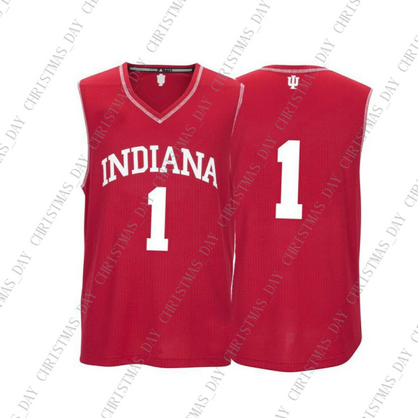 434576b9f Cheap Custom Indiana Hoosiers NCAA  1 Red Basketball Jersey Personality  stitching custom any name number