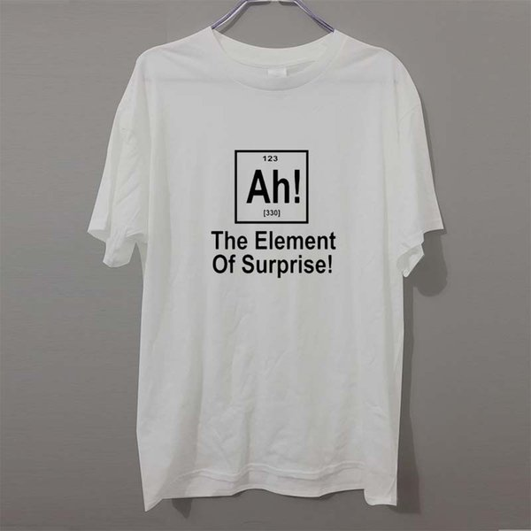 New Brand Of Surprise Periodic Table Geek Science T Shirt Men Funny Cotton Short Sleeve T-shirt