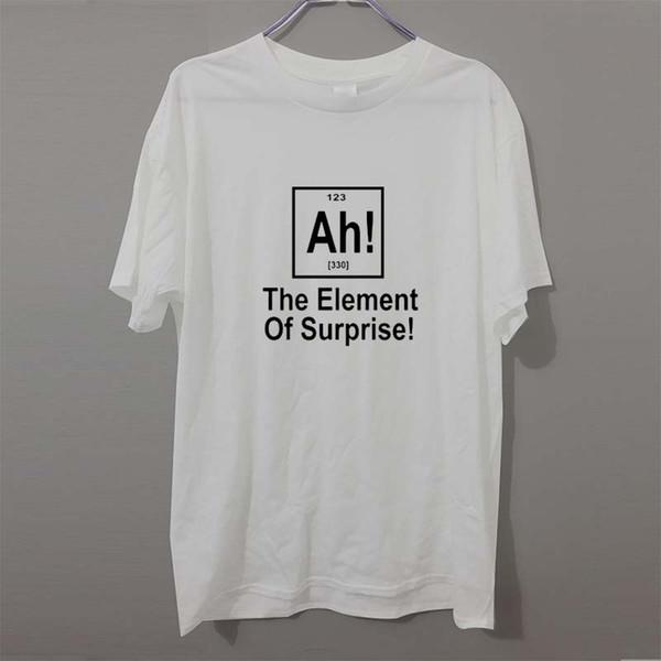 Sürpriz Yeni Marka Periyodik Tablo Geek Bilim T Gömlek Erkekler Komik Pamuk Kısa Kollu T-shirt