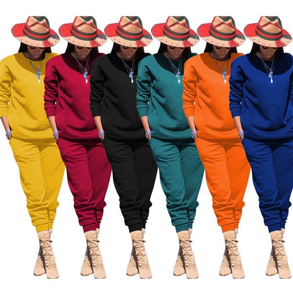 Les femmes Stretchy Automne Hiver Costume Vêtements décontractés Survêtements Sweats à capuche Leggings Sweatshirts Corsaires Ensemble 2 pièces Pantalons Survêtement 2013