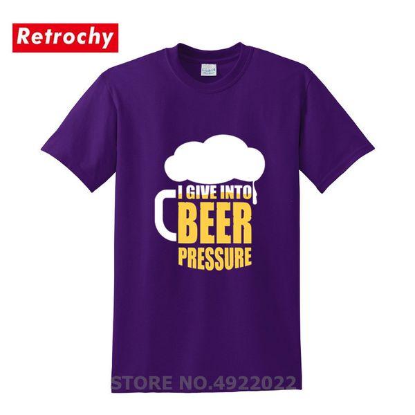 Yenilik erkek Streetwear Marka Giyim Komik Bira İçecek Tişörtlü Hip Hop Aile Parti Tshirt Bira Homer Için Eğlenceli T-shirt