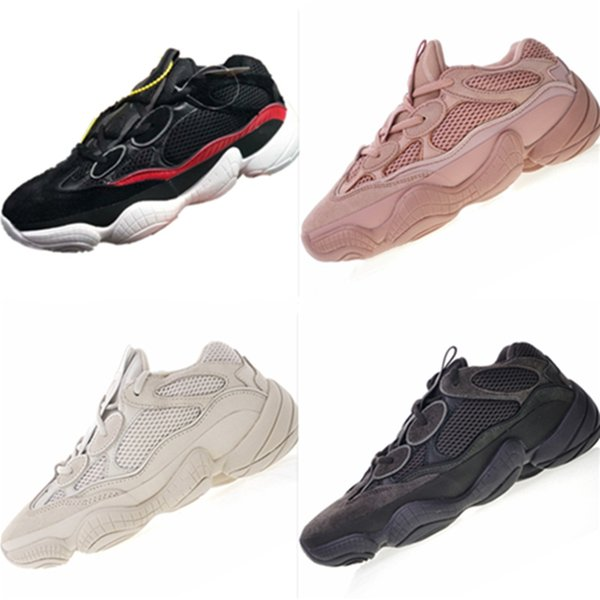 With Box SPLY 500 Desert Rat Suede and Mesh Kids Running Sneakers Kanye West SPLY 500 Desert Rat Cushioning Children Athletic Shoes