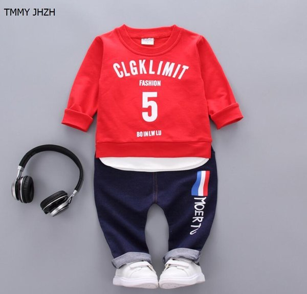 Boys Clothes 2019 Spring Hot Fashion Outfits Set Letters Long Sleeve T-shirt +pants Children's sports suit kids clothes