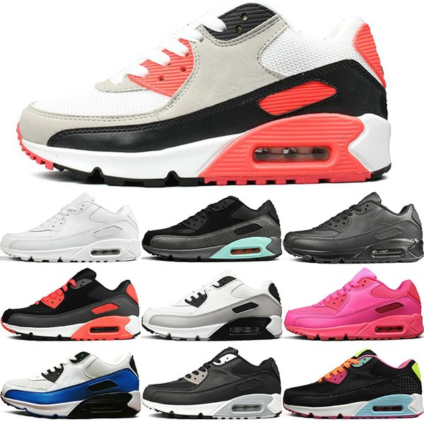 2019 New Men Womens Running Shoes Classic Triple White Black Red Grey Gold Trainer Cushion Surface Breathable Sports Casual Shoes 36-45