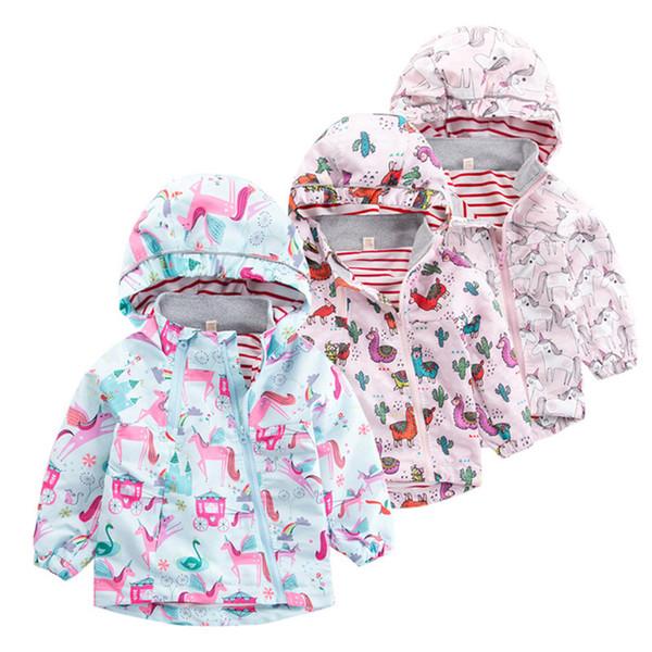 Bahar Rüzgarlık Kız Erkek Ceket Pembe Bombacı Ceket Için Bebek çocuğun Ceket Sonbahar Ceketler Çocuk Çocuk Giysileri 1-7 Yıl