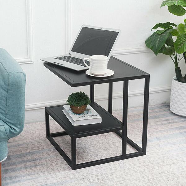 Remarkable 2019 Minimal Square Metal 2 Tiers Lounge Sofa Side Tables Bedside Desk In Black Gold From Shao998 276 39 Dhgate Com Inzonedesignstudio Interior Chair Design Inzonedesignstudiocom