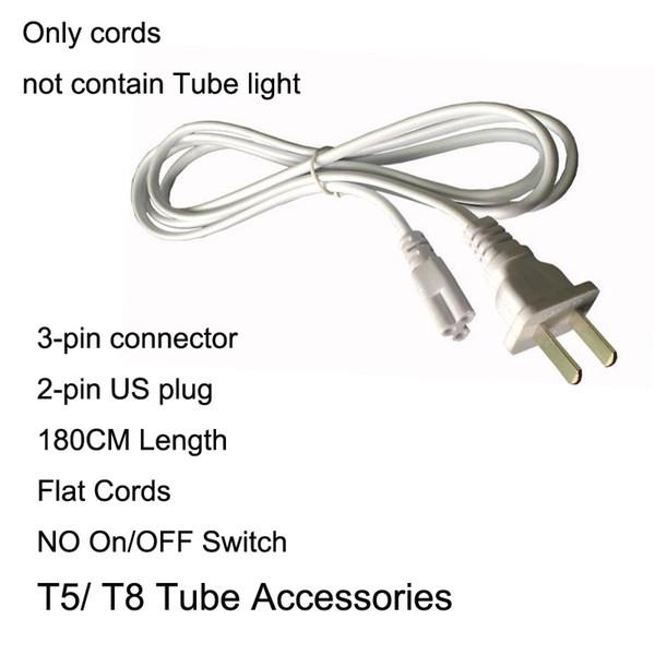 1.8M sin enchufe interruptor cables planos