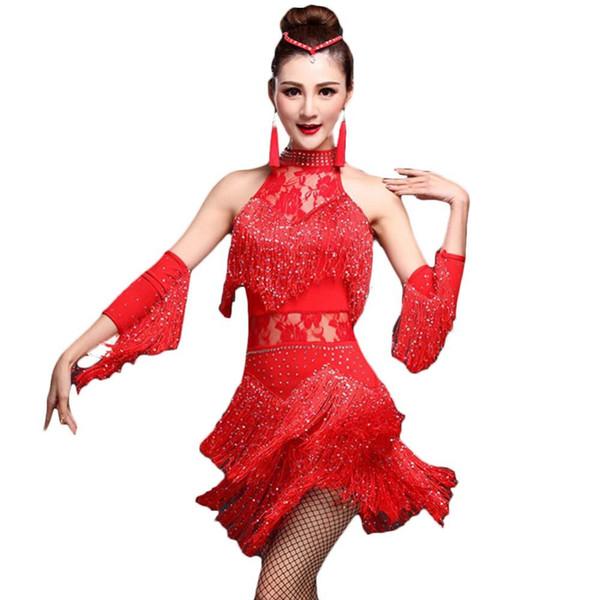 2019 2018 Fringe Roaring 20\'S 1920 Era Latin Dress&HandSleeve Salsa Flapper  Girl Charleston Halloween Prom Costumes Dress Plus Size From Wudai, $30.6  ...
