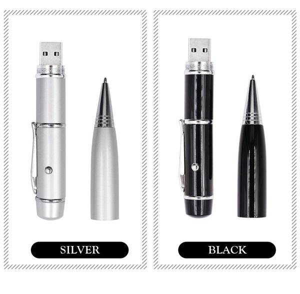 q 2019 NOUVEAU stylo en métal stylo usb USB 2.0 stylo laser usb disque u Mémoire Flash Stick Storage Drive transmission à haute vitesse