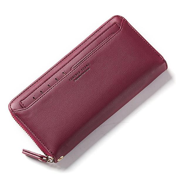Kaliteli Fermuar Debriyaj Cüzdan Kadın Coin Çantalar Kart Tutucu Telefon Cep Uzun Çanta Moda Kadın Cüzdan Carteira
