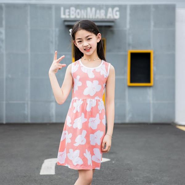 919f230d43ed6 2018 Princess Dress Fashion Summer Soft Girls Dress Nightgown Kids ...