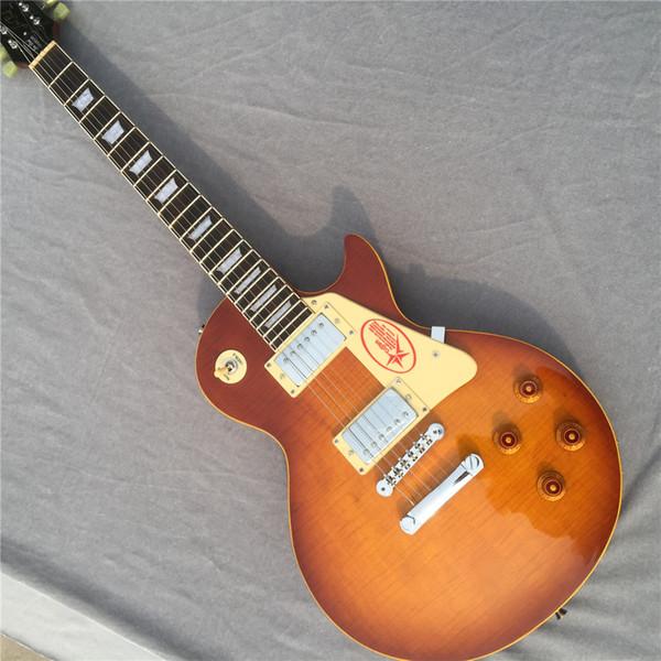 Free shipping new arrival High Quality Custom Shop Standard Tiger stripe Flame brown Electric Guitar hai3 electric guitars guitarra