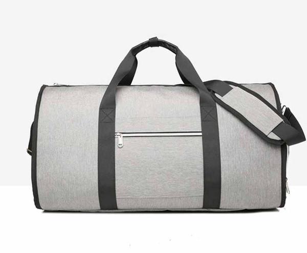 Hombre de la manera y multifuncional plegable de la mujer bolsa de viaje hombre portátiles bolsa de almacenamiento de gran capacidad traje de la carretilla del equipaje del recorrido del envío libre