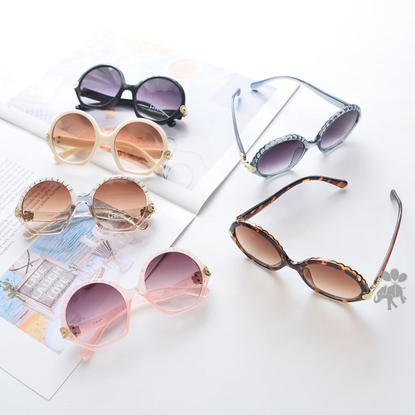 meninos meninas óculos de sol crianças verão rodada forma de moldura vidros de sol crianças UV 400 Óculos de ciclismo crianças SUNBLOCK A-LJJA2422