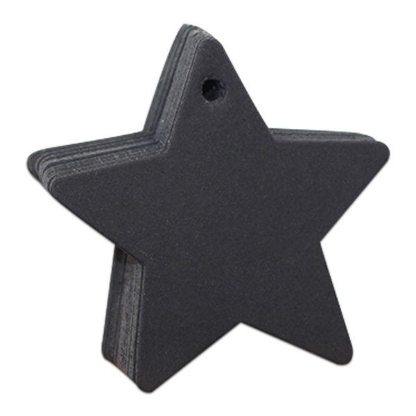 6x6cm Star Black