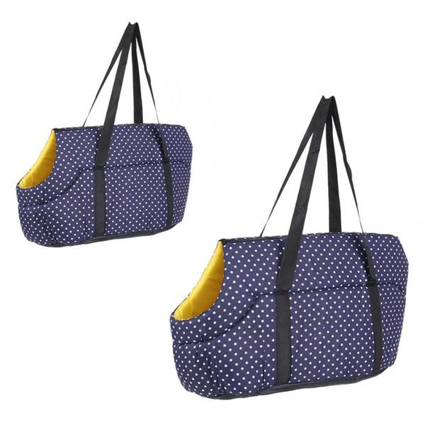 Sac à dos pour animaux de compagnie Messenger Carrier Bags Hands Sac de voyage en plein air pour chien, portable, bleu marine