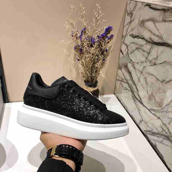 Les meilleurs chaussures de qualité formateurs blanc Sneakers en cuir Plateforme Femmes Hommes Casual Flat Party Chaussures de mariage Suede sport Chaussures de sport 35-45 66-81 #