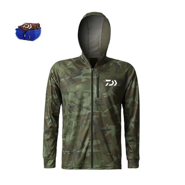 Открытый Рыбалка Одежда Пальто Лето Весна Мужчины Рыбалка Куртка Quick-Dry Рыбалка Одежда Туризм Отдых На Природе Одежда Подарочное Полотенце