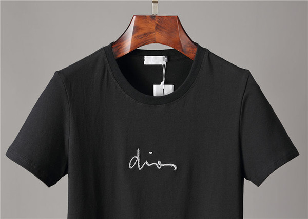 Embroidery Brand Designer T Shirt For Men And Women Summer Casual Tees Breathable Fashion Style Loose Fit Designer T Shirts Asian Size
