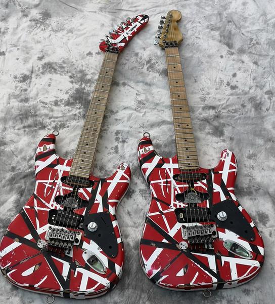 Haute Qualité Guitare électrique, Eddie Van Halen meilleure qualité Guitares, relique ans st, mis à jour hardwares de qualité, livré rapidement