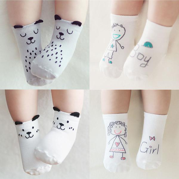 14 Styles Baby Fashion Cotton Socks Newborn Infant Kids Floor Non-slip Socks Girls Boys asymmetric Cartoon animal Socks M361