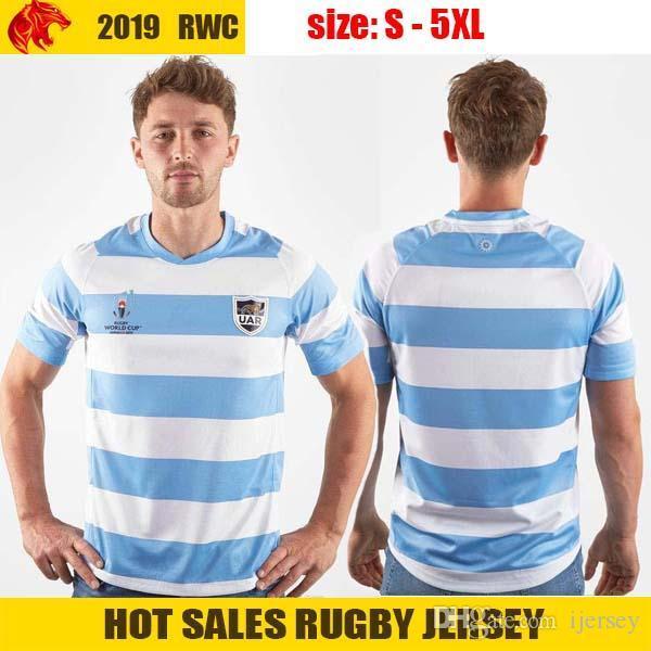 Japón 2019 Copa Mundial de la RWC Argentina Home Jersey de Rugby Argentina UAR equipo nacional de rugby Liga camisa del jersey del tamaño S-3XL