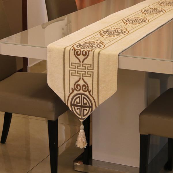 Tovaglie moderne in tela di ciniglia di lusso semplice da tavola per tovaglie per feste di matrimonio all'aperto