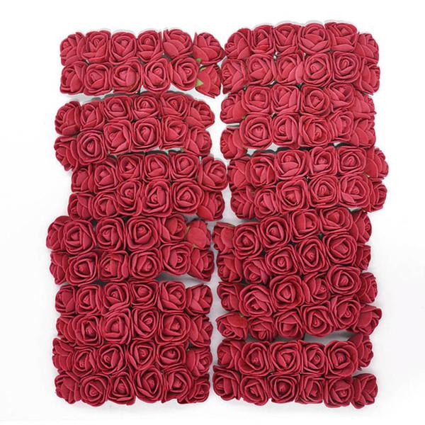 144Pcs Foam Teddy Bear Rose Decoration PE Foam Rose Head Fake Flower Handmade Wedding Decoration Srapbooking Gift box diy wreath
