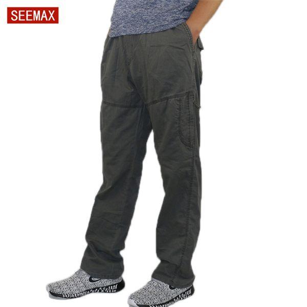 Mens Cargo Pants Pencil Harem Casual Baggy Pants Jogger Men Cotton Multi Pocket Boy Fashion Fitness Loose Stretch Overalls L-6XL
