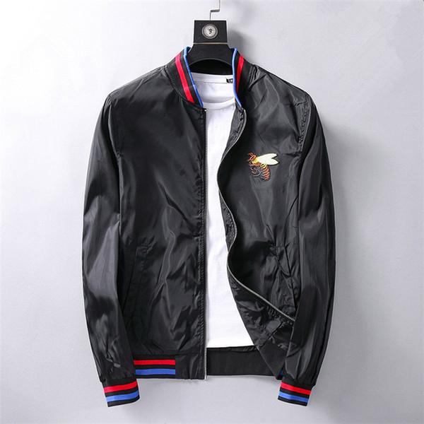 2019 Italy New Fashion Men Jacket Coat with Letter Print Luxury Designer Jackets Windbreaker Hooded G Hoodie Long Sleeve Brand Mens Clothing