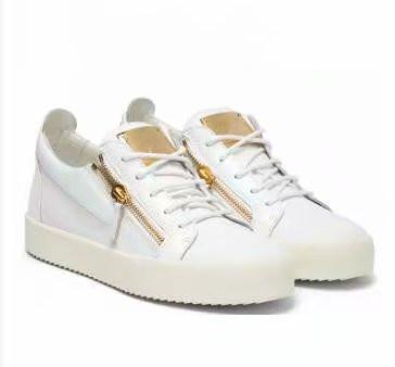 cuero de grano de cocodrilo negro envío de la alta calidad de los zapatos de los hombres y de las mujeres, zapatillas de deporte de moda de alto nivel chaoliu 1896014