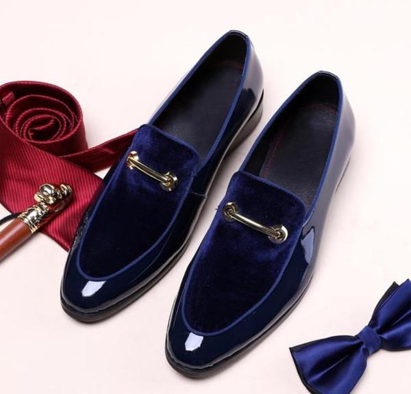 Neue Italienischen Schatten Bräutigam Mode Schuhe Luxus Männer Großhandel Oxford Große Lackleder Stil Größe Kleid Hochzeit e2EDHIYW9