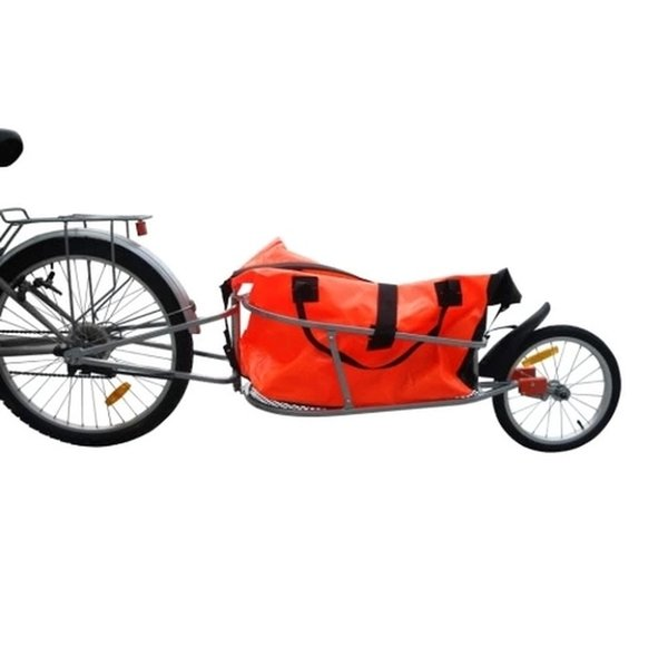 Bicycle Trailer Single Wheel Luggage Foldable 16 Inch Impeller Rigid Structure Fully-suspended Rear Axle Single Wheel Trailer #242993